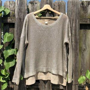 H&M silver metallic coated sweater